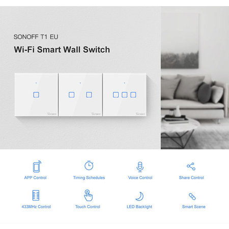 Sonoff Sonoff Touch Remote Wall Switch