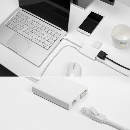 Xiaomi Xiaomi Mi USB-C naar VGA en Gigabit Ethernet Multi-Adapter
