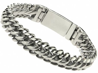 "Bukovsky Stainless Steel Jewelry Stalen Heren Armband Bukovsky ""Elegance Extra Small"" - Gepolijst"