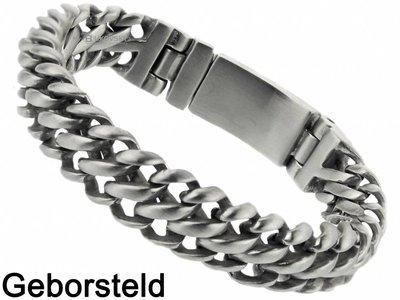 "Bukovsky Stainless Steel Jewelry Stalen Heren Armband Bukovsky ""Elegance Extra Small"" - Geborsteld - Vanaf € 44,50"