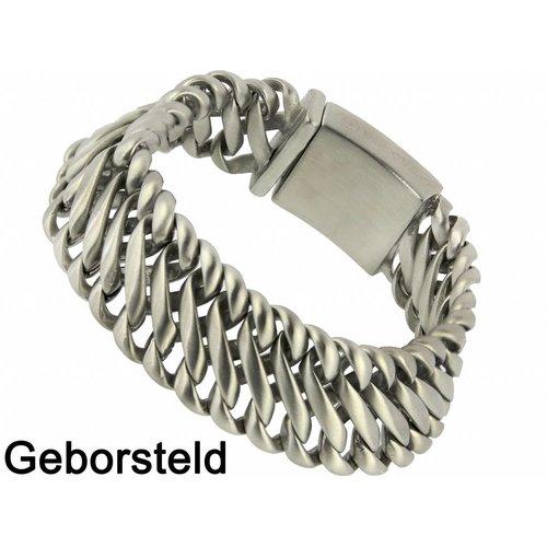 "Bukovsky Stainless Steel Jewelry Stalen Heren Armband Bukovsky ""Elegance Small"" - Geborsteld - Vanaf € 55,00"