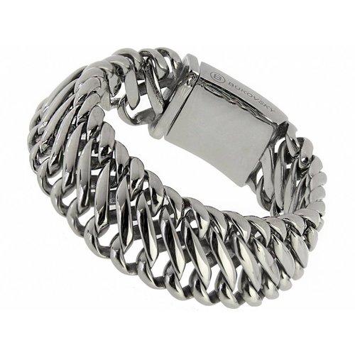 """Bukovsky Stainless Steel Jewelry Stalen Heren Armband Bukovsky """"Elegance Small"""" - Gepolijst - Vanaf € 55,00"""