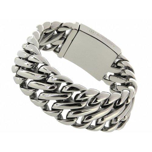 """Bukovsky Stainless Steel Jewelry Stalen Heren Armband Bukovsky """"Elegance"""" - Gepolijst - Vanaf € 65,00"""