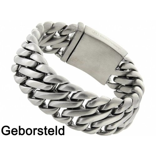 "Bukovsky Stainless Steel Jewelry Stalen Heren Armband Bukovsky ""Elegance"" - Geborsteld - Vanaf € 67,50"