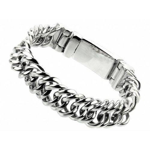 """Bukovsky Stainless Steel Jewelry Stalen Heren Schakelarmband Bukovsky """"Prestige Extra Small """" - Gepolijst"""