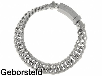"Bukovsky Stainless Steel Jewelry Stalen Heren Schakelarmband Bukovsky ""Prestige Extra Small "" - Geborsteld"
