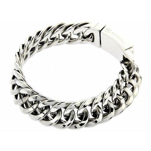 """Bukovsky Stainless Steel Jewelry Stalen Heren Armband Bukovsky """"Prestige Small"""" - Gepolijst - Vanaf 42,50"""