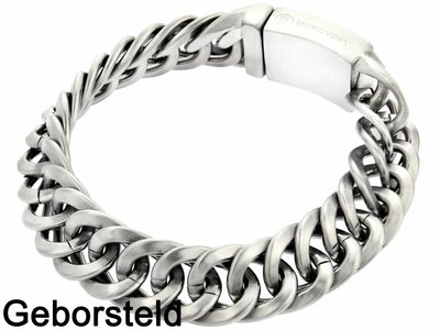 "Bukovsky Stainless Steel Jewelry Stalen Heren Armband Bukovsky ""Prestige Small"" - Geborsteld - Vanaf 45,00"