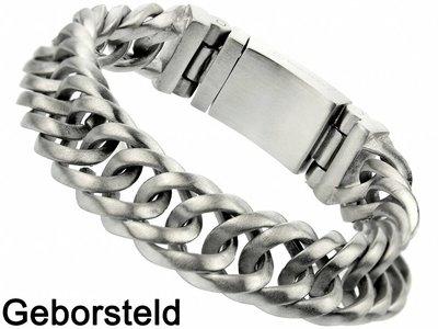 "Bukovsky Stainless Steel Jewelry Stalen Heren Armband Bukovsky ""Prestige Limited Edition"" - Geborsteld - Vanaf 49,50"