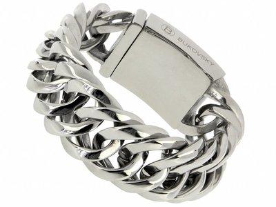 """Bukovsky Stainless Steel Jewelry Stalen Heren Schakelarmband Bukovsky """"Prestige"""" - Gepolijst - Vanaf € 65,00"""