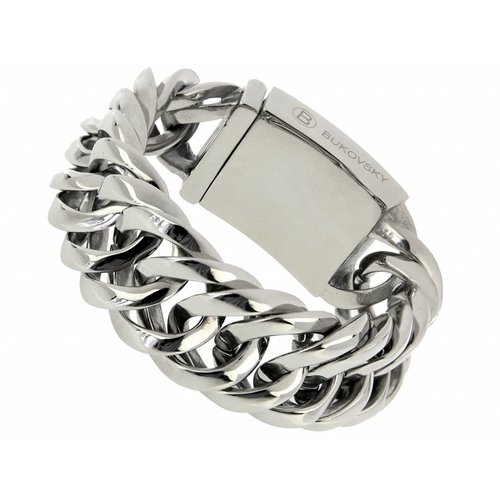 """Bukovsky Stainless Steel Jewelry Stalen Heren Schakelarmband Bukovsky """"Prestige """" - Gepolijst - Vanaf € 65,00"""