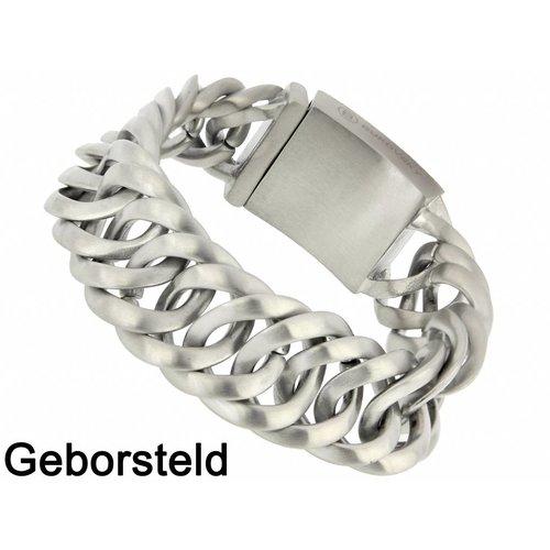 """Bukovsky Stainless Steel Jewelry Stalen Heren Schakelarmband Bukovsky """"Prestige """" - Geborsteld - Vanaf € 65,00"""