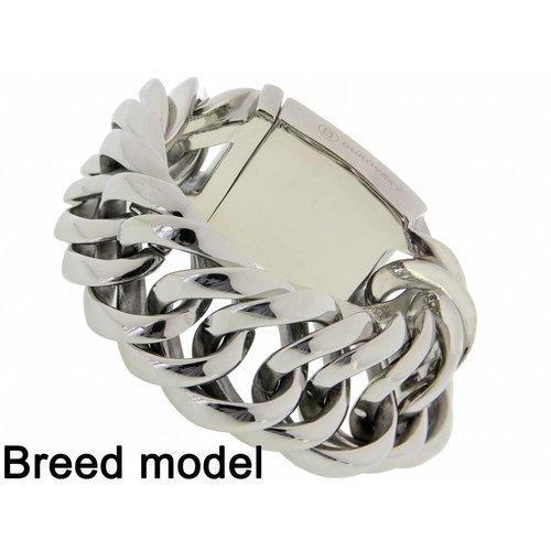 "Bukovsky Stainless Steel Jewelry Stalen Dames Armband Bukovsky ""Prestige XL"" - Gepolijst - Vanaf 85,00"