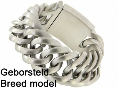 """Bukovsky Stainless Steel Jewelry Stalen Heren Schakelarmband Bukovsky """"Prestige XL"""" - Geborsteld - Vanaf € 87,50"""
