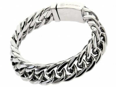 "Bukovsky Stainless Steel Jewelry Stalen Dames Armband Bukovsky ""Chase Small"" - Gepolijst - Vanaf € 42,50"