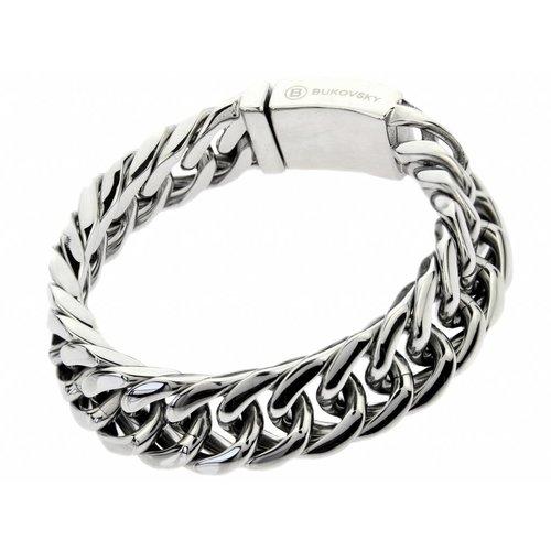 "Bukovsky Stainless Steel Jewelry Stalen Heren Armband Bukovsky ""Chase Small"" - Gepolijst - Vanaf € 42,50"