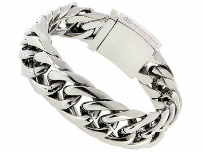 """Bukovsky Stainless Steel Jewelry Stalen Heren Schakelarmband Bukovsky """"Chase"""" - Gepolijst - Vanaf € 47,50"""
