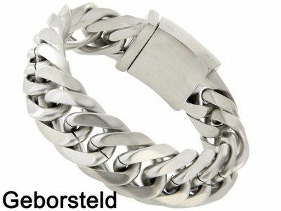 "Bukovsky Stainless Steel Jewelry Stalen Heren Schakelarmband Bukovsky ""Chase"" - Geborsteld - Vanaf € 47,50"