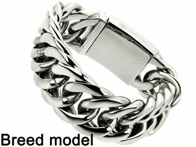 "Bukovsky Stainless Steel Jewelry Stalen Dames Armband Bukovsky ""Chase XL"" - Gepolijst - Vanaf € 72,50"