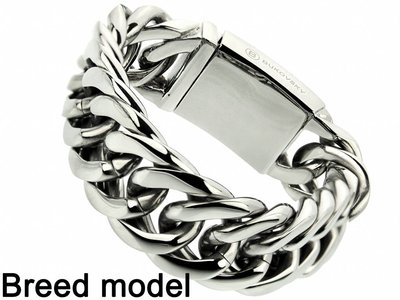 "Bukovsky Stainless Steel Jewelry Stalen Heren Armband Bukovsky ""Chase XL"" - Gepolijst - Vanaf € 72,50"