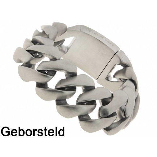 """Bukovsky Stainless Steel Jewelry Stalen Heren Schakelarmband Bukovsky """"Genius"""" - Geborsteld - Vanaf € 62,50"""