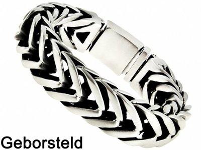 """Bukovsky Stainless Steel Jewelry Stalen Heren Schakelarmband Bukovsky """"Elite"""" - Geborsteld - Vanaf € 72,50"""