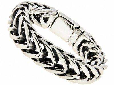 """Bukovsky Stainless Steel Jewelry Stalen Heren Armband Bukovsky """"Elite"""" - Gepolijst - Vanaf € 75,00"""