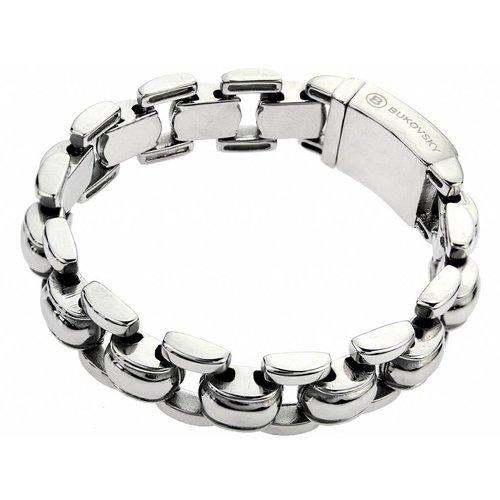 """Bukovsky Stainless Steel Jewelry Stalen Heren Armband Bukovsky """"Global"""" - Gepolijst - Vanaf € 44,50"""