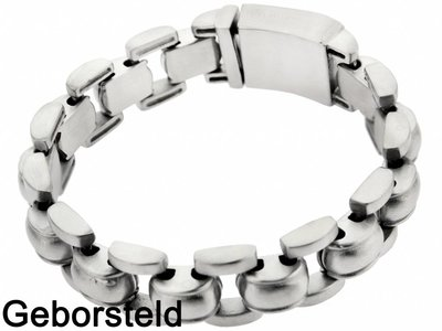 "Bukovsky Stainless Steel Jewelry Stalen Heren Armband Bukovsky ""Global Small"" - Geborsteld - Vanaf € 44,50"