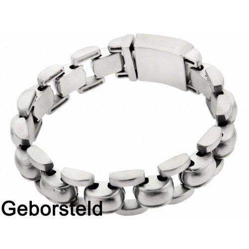 "Bukovsky Stainless Steel Jewelry Stalen Heren Armband Bukovsky ""Global Small"" - Geborsteld - Vanaf € 44,50"