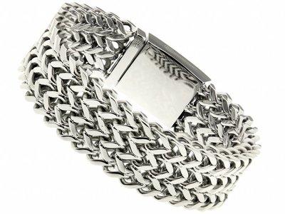 """Bukovsky Stainless Steel Jewelry Stalen Heren Armband Bukovsky """"Excellent Small"""" - Gepolijst - Vanaf € 49,50"""