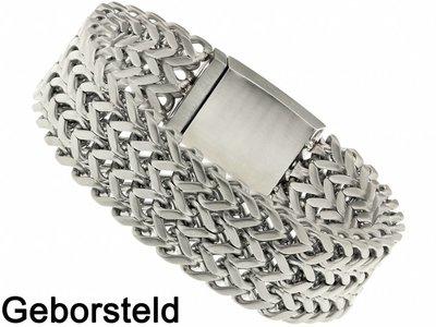 """Bukovsky Stainless Steel Jewelry Stalen Heren Armband Bukovsky """"Excellent Small"""" - Geborsteld - Vanaf € 49,50"""