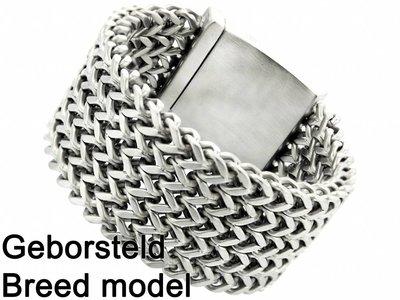 """Bukovsky Stainless Steel Jewelry Stalen Heren Armband Bukovsky """"Excellent XL"""" - Geborsteld - Vanaf € 87,50"""