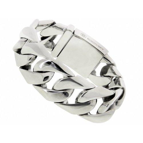 """Bukovsky Stainless Steel Jewelry Stalen Heren Armband Bukovsky """"Force"""" - Gepolijst - Vanaf € 59,50"""