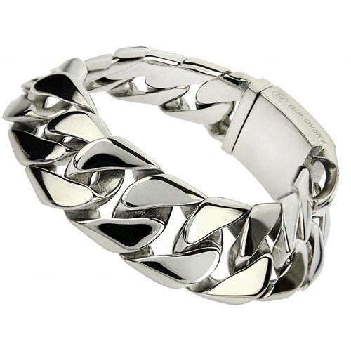 """Bukovsky Stainless Steel Jewelry Stalen Heren Armband Bukovsky """"Force Small"""" - Gepolijst - Vanaf € 49,50"""