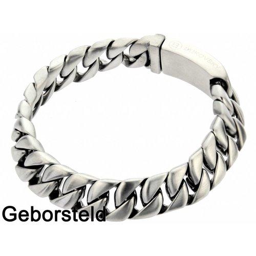 "Bukovsky Stainless Steel Jewelry Stalen Heren Armband Bukovsky ""Force Extra Small"" - Geborsteld - Vanaf € 34,50"