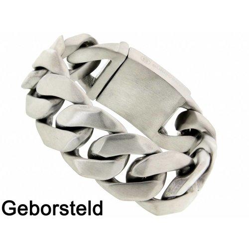 "Bukovsky Stainless Steel Jewelry Stalen Heren Armband Bukovsky ""Omnia"" - Geborsteld - Vanaf € 62,50"