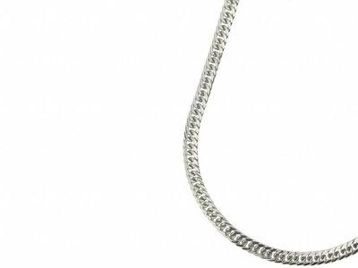 Bukovsky Stainless Steel Jewelry Bukovsky Stalen Heren Ketting SH9130 - Gourmette - Lengte: 60 cm - Breedte: 0,7 cm - Dikte: 0,3 cm