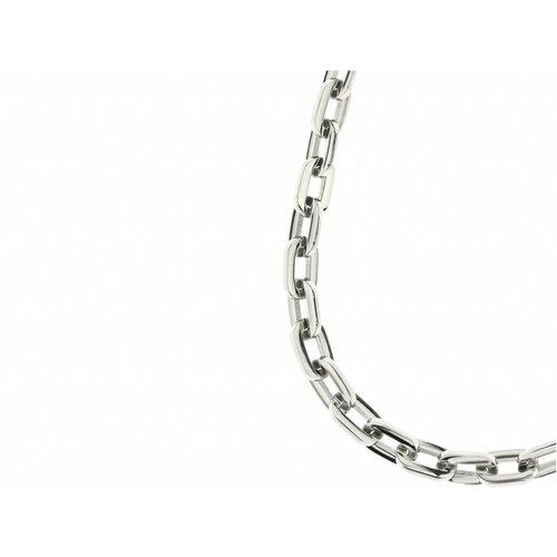 Bukovsky Stainless Steel Jewelry Bukovsky Stalen Heren Ketting SH9525 - Ovaal - Deluxe - Shiny- Lengte: 60 cm - Breedte: 1,2 cm - Dikte: 0,2 cm