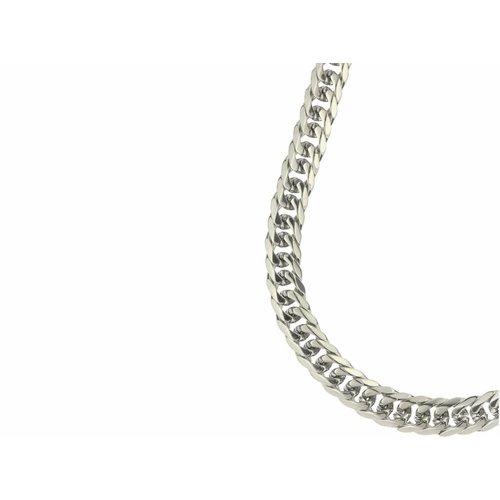 Bukovsky Stainless Steel Jewelry Bukovsky Stalen Heren Ketting SH9395 - Gourmette - Lengte: 59 cm - Breedte: 1,2 cm - Dikte: 0,5 cm