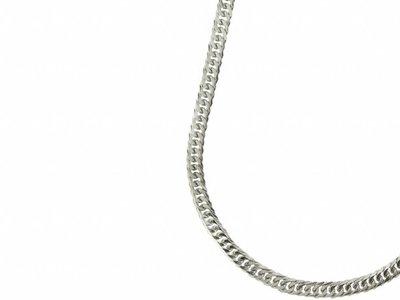 Bukovsky Stainless Steel Jewelry Bukovsky Stalen Heren Ketting SH9030 - Gourmette - Lengte: 71 cm - Breedte: 0,6 cm - Dikte: 0,2 cm