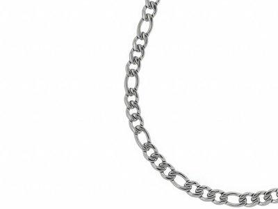 Bukovsky Stainless Steel Jewelry Bukovsky Stalen Heren Ketting SH7150 - Figaro - Large - Lengte: 60 cm - Breedte: 0,9 cm - Dikte: 0,2 cm