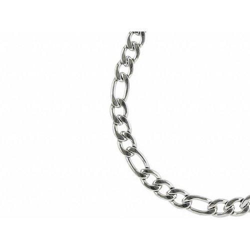 Bukovsky Stainless Steel Jewelry Bukovsky Stalen Heren Ketting SH7150 - Figaro XL - Lengte: 60 cm - Breedte: 1,0 cm - Dikte: 0,3 cm