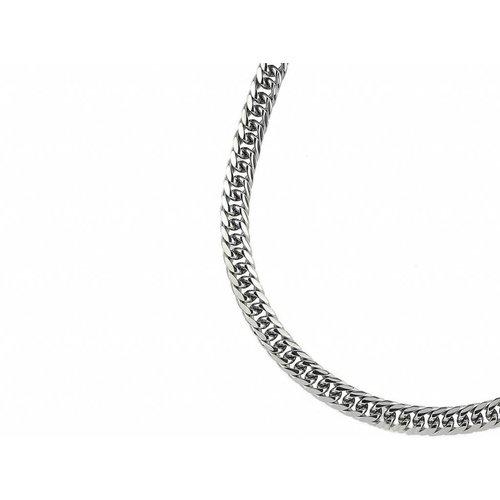 Bukovsky Stainless Steel Jewelry Bukovsky Stalen Heren Ketting SH7180 - Gourmette - Medium - Lengte: 60 cm - Breedte: 0,7 cm - Dikte: 0,3 cm