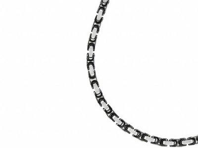 Bukovsky Stainless Steel Jewelry Bukovsky Stalen Heren Ketting SH7360 - Koningsschakel - Medium - Bi-color - Lengte: 55 cm-Breedte: 0,5 cm - Dikte: 0,5 cm