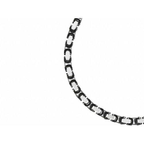 Bukovsky Stainless Steel Jewelry Bukovsky Stalen Heren Ketting SH7360 - Konings - Large -Bi-color - Lengte: 56 cm - Breedte: 0,8 cm - Dikte: 0,8 cm