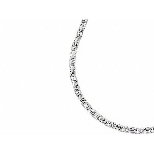 Bukovsky Stainless Steel Jewelry Bukovsky Stalen Heren Ketting SH7440 - Konings - Medium - Lengte: 54 cm - Breedte: 0,5 cm - Dikte: 0,5 cm