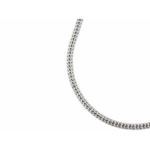 Bukovsky Stainless Steel Jewelry Bukovsky Stalen Heren Ketting SH7010 - Gourmette - Small - Lengte: 55 cm - Breedte: 0,5cm - Dikte: 0,2 cm