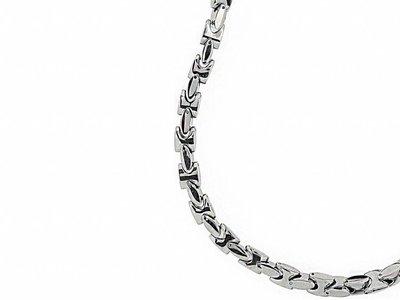 Bukovsky Stainless Steel Jewelry Bukovsky Stalen Heren Ketting SH7800-Deluxe - Lengte: 61 cm - Breedte: 0,8 cm - Dikte: 0,8 cm