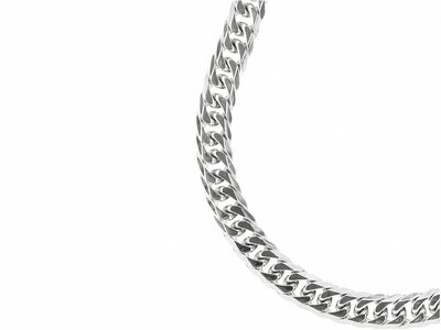Bukovsky Stainless Steel Jewelry Bukovsky Stalen Heren Ketting SH7910 - Gourmette - Lengte: 60 cm - Breedte: 1,3 cm - Dikte: 0,4 cm